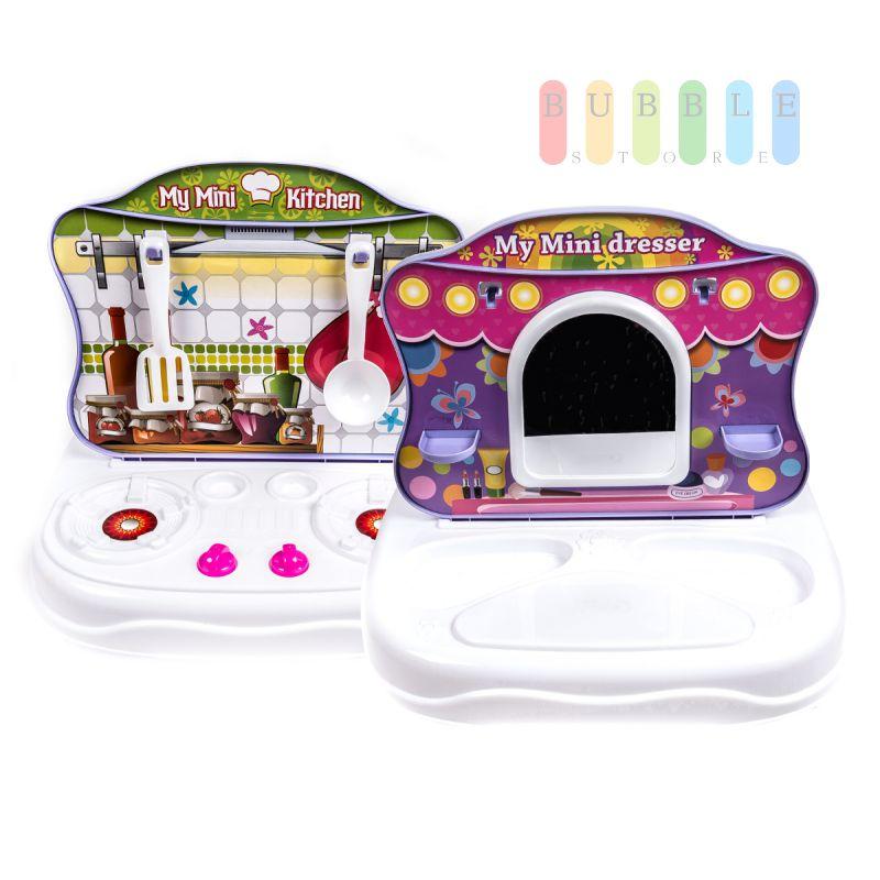 spielzeug 2in1 schminktisch k che kinderspielk che. Black Bedroom Furniture Sets. Home Design Ideas